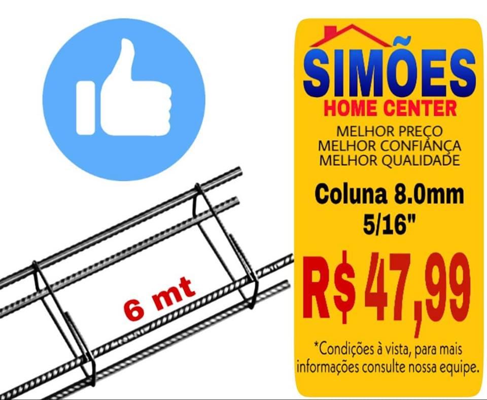 Coluna de Ferro 6m 7×20 – 8mm (5/16″)