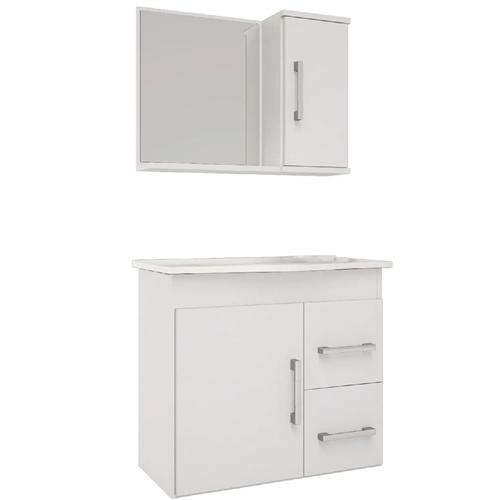 Gabinete p/Banheiro c/Espelheira -Vix – 65cm – Mgm Gabinetes