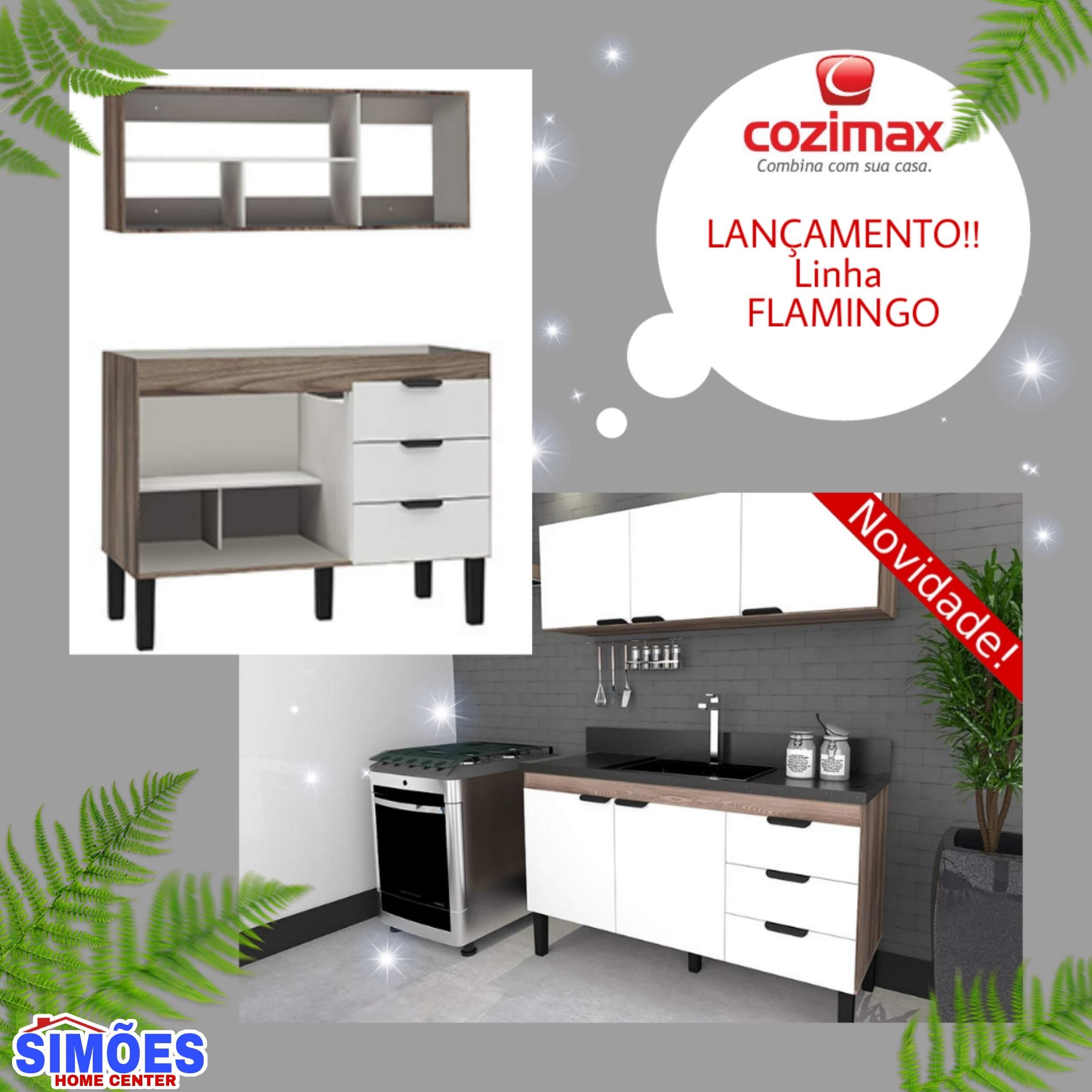 Gabinete de Cozinha em Madeira – Flamingo – Cozimax