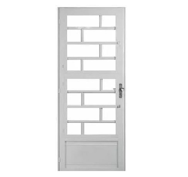 Porta Tijolinho Branca c/ Vidro